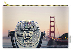 Golden Gate Sunset - San Francisco California Photography Carry-all Pouch by Melanie Alexandra Price