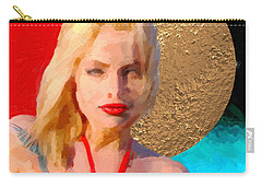Carry-all Pouch featuring the digital art Golden Girl No. 2 by Serge Averbukh