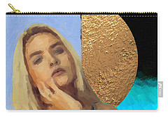 Carry-all Pouch featuring the digital art Golden Girl No. 4  by Serge Averbukh