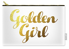 Golden Girl Typography Carry-all Pouch