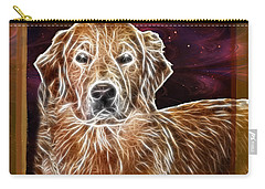 Carry-all Pouch featuring the photograph Golden Glowing Retriever by EricaMaxine  Price