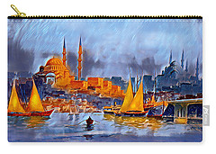 Carry-all Pouch featuring the digital art Golden Horn Of Istanbul by Pennie McCracken