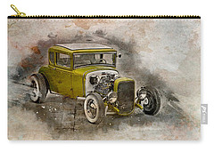 Carry-all Pouch featuring the photograph Golden Hot Rod by Joel Witmeyer
