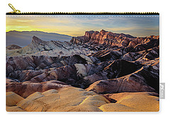 Golden Hour Light On Zabriskie Point Carry-all Pouch