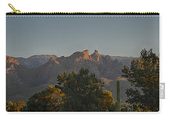 Carry-all Pouch featuring the photograph Golden Hour On Thimble Peak by Dan McManus