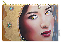 Golden Indian Bride Carry-all Pouch