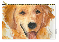 Golden Retriever Watercolor Painting By Kmcelwaine Carry-all Pouch