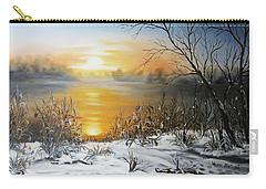 Golden Lake Sunrise  Carry-all Pouch by Vesna Martinjak