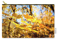 Carry-all Pouch featuring the photograph Golden Leaves by Ivy Ho