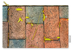 Golden Leaves On Boston Bricks Carry-all Pouch by Patricia E Sundik