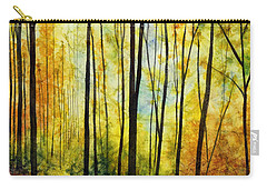 Carry-all Pouch featuring the painting Golden Light by Hailey E Herrera