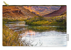 Carry-all Pouch featuring the photograph Golden Light by Marilyn Hunt