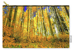 Golden Light Of The Aspens - Colorful Colorado - Aspen Trees Carry-all Pouch by Jason Politte