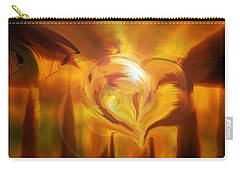 Carry-all Pouch featuring the digital art Golden Love by Linda Sannuti