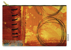 Carry-all Pouch featuring the painting Golden Marks 10 by Nancy Merkle