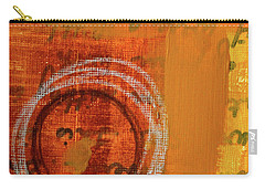 Carry-all Pouch featuring the painting Golden Marks 11 by Nancy Merkle