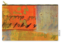 Carry-all Pouch featuring the painting Golden Marks 12 by Nancy Merkle