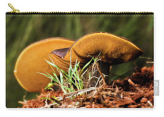 Carry-all Pouch featuring the photograph Golden Mushrooms 001 by Kevin Chippindall