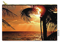 Golden Palm Sunrise Carry-all Pouch by Meta Gatschenberger