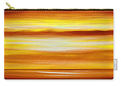 Golden Panoramic Abstract Sunset Carry-all Pouch