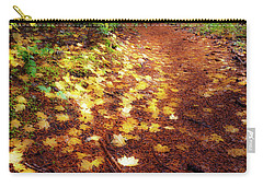 Carry-all Pouch featuring the photograph Golden Path by Cat Connor