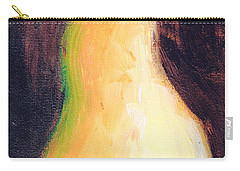 Carry-all Pouch featuring the painting Golden Pear.. by Jolanta Anna Karolska