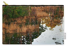 Carry-all Pouch featuring the photograph Golden Pond by Lori Mellen-Pagliaro