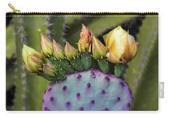 Carry-all Pouch featuring the photograph Golden Prickly Pear Buds  by Saija Lehtonen