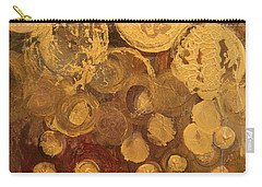 Golden Rain Abstract Carry-all Pouch by Kristen Abrahamson