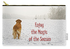 Golden Retriever Dog Magic Of The Season Carry-all Pouch