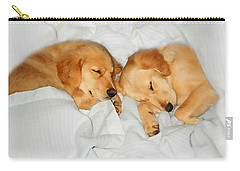 Golden Retriever Dog Puppies Sleeping Carry-all Pouch by Jennie Marie Schell