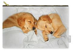 Golden Retriever Dog Puppies Sleeping Carry-all Pouch