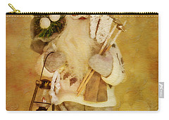 Golden Santa Card 2015 Carry-all Pouch
