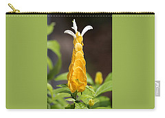 Carry-all Pouch featuring the photograph Golden Shrimp Flower by Sheila Brown