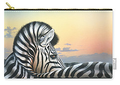 Carry-all Pouch featuring the painting Golden Sky by Mike Brown