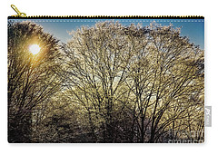Carry-all Pouch featuring the photograph Golden Snow by Tatsuya Atarashi