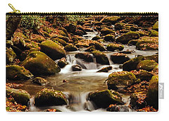 Carry-all Pouch featuring the photograph Golden Stream In The Great Smoky Mountains by Debbie Green