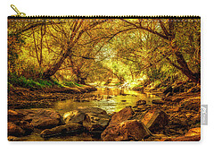 Golden Stream Carry-all Pouch by Kristal Kraft