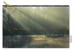 Carry-all Pouch featuring the photograph Golden Sun Rays by George Randy Bass