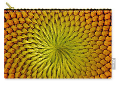 Carry-all Pouch featuring the photograph Golden Sunflower Eye by Chris Berry