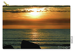 Carry-all Pouch featuring the photograph Golden Sunset At The Beach IIi by Mariola Bitner