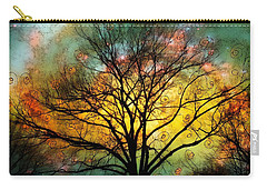 Golden Sunset Treescape Carry-all Pouch by Barbara Chichester