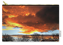 Golden Sunset With Filigree Trees Carry-all Pouch