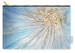 Carry-all Pouch featuring the mixed media Golden Sunshine by Angela Stout