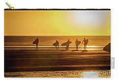 Carry-all Pouch featuring the photograph Golden Surfers by Mitch Shindelbower