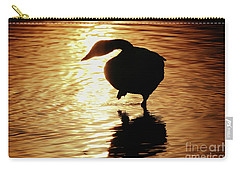 Carry-all Pouch featuring the photograph Golden Swan by Tatsuya Atarashi