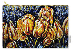 Golden Tulips Carry-all Pouch by Harsh Malik