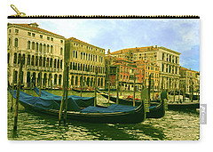Carry-all Pouch featuring the photograph Golden Venice by Anne Kotan