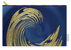 Golden Wave Abstract Carry-all Pouch