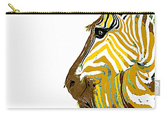 Golden Zebra Carry-all Pouch by Saundra Myles